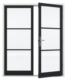 Dubbele deurenset Staal Sleutelbediend verzinkt scharnier (Rechts actief)