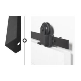 Schuifdeur pakket Slimserie ULTRA hang en sluit 552 - Deurgreep Vernal 30 mat zwart