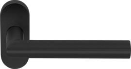 Deurkruk Ovaal Mat Zwart - ID 1200