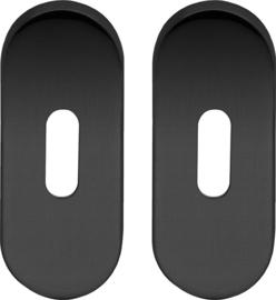 Sleutelrozet Ovaal Mat Zwart - ID 1202