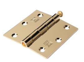 gouden messing scharnier vierkant 76x76 mm