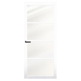 Nero Legno CHIARI White binnendeur blank vlak glas