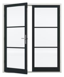 Dubbele deurenset Staal Sleutelbediend verzinkt scharnier (Links Actief)