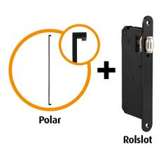 Handgreep pakket Polar mat zwart
