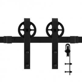 Schuifdeursysteem Teho Zwart 150 cm