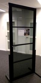 Nero Legno CHIARI Tinto zwarte binnendeur getint glas