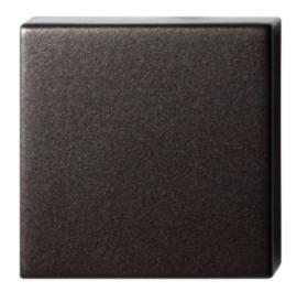 blinde rozet 50x50x8 mm Dark blend
