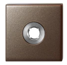 rozet 50x50x8 mm Bronze blend
