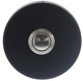 Intersteel Deurbel rond verdekt ø53x10 rvs/mat zwart