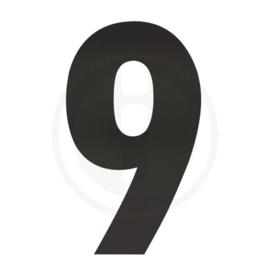 Huisnummer 0 tot en met 9 XXL hoogte 50 cm rvs/mat zwart
