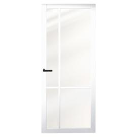Nero Legno Asti White binnendeur blank vlak glas