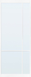 Skantrae SlimSeries Ultra Witte Binnendeur SSL 4207 Blank Glas