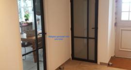 Nero Legno Asti zwarte binnendeur blank vlak glas