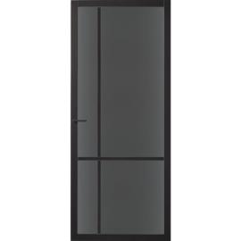 Skantrae SlimSeries Zwarte Binnendeur SSL 4009 Rookglas