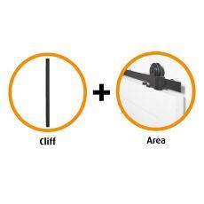 Schuifdeur pakket CanDo Area schuifsysteem + deurgreep Cliff