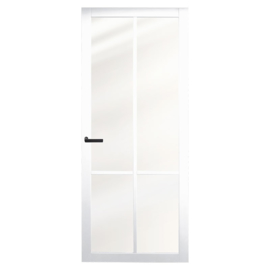 Nero Legno BRESCIA White binnendeur blank vlak glas