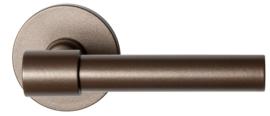 Hipi Deux+ Bronze blend deurkruk op ronde rozet