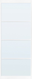 Skantrae SlimSeries Ultra Witte Binnendeur SSL 4204 Blank Glas