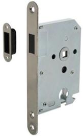 Intersteel Woningbouw magneet cilinder dag- en nachtslot 55mm voorplaat afgerond rvs