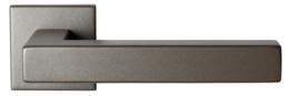 Zaki+ Mocca blend deurkruk met vierkante rozet