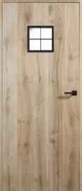 Eicq parketdeur balkenhout retrokader 4-ruits