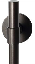 Hipi Deux Dark blend deurkruk op ronde rozet