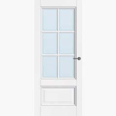 CanDo binnendeur Traditional Naarden met blank facetglas