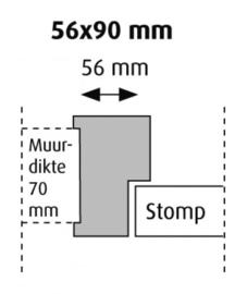 Stomp 56x90 hardhout kozijn