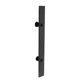 Deurgreep Plat mat zwart 400x40 mm