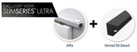 Schuifdeur pakket Slimserie ULTRA hang en sluit 542 - Deurgreep Vernal 50 mat zwart