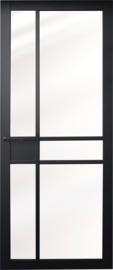 Nero Legno Imola blank vlak glas zwarte binnendeur