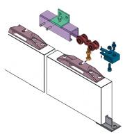 Schuifdeursysteem Austria Swipe 400 Synchroon (Dubbele deur)