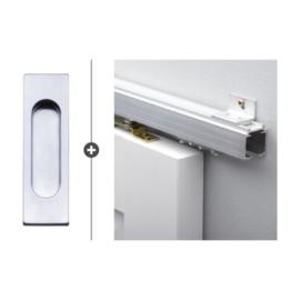 Schuifdeur pakket SlimSeries hang- en sluitwerk 519 - Deurkom Recta