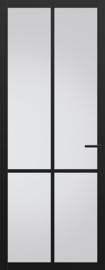 Svedex zwarte binnendeur met glas NDB902 Nova