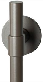 Hipi Deux Mocca blend deurkruk op ronde rozet