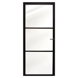 Stalen binnendeur Nero Acciaio MDCX stalendeur en kozijn 88x231,5 links zwart