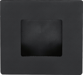 Schuifdeurkom Vierkant Mat Zwart - ID 1402