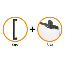 Schuifdeur pakket CanDo Area schuifsysteem + deurgreep Cape