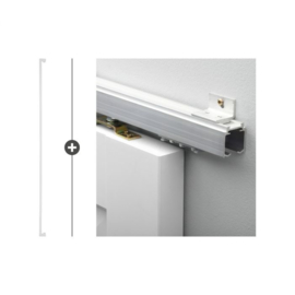 Schuifdeur pakket Slimserie ULTRA hang en sluit 560 - Deurgreep Tupelo 160 Wit