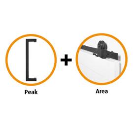 Schuifdeur pakket CanDo Area schuifsysteem + deurgreep Peak