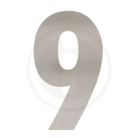 Huisnummers 0 tot en met 9 XXL hoogte 50 cm RVS geborsteld