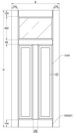 Svedex binnendeur Elegant CA18 satijn glas