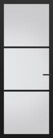 Svedex zwarte binnendeur met glas NDB901 Nova