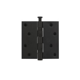 Kogellagerscharnier recht 89x89 mat zwart
