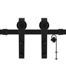 Schuifdeursysteem Lanka Zwart 150 cm