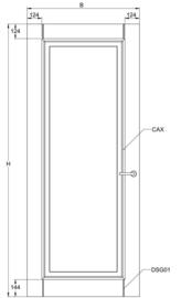 Svedex binnendeur Elegant CA01 paneeldeur