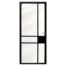 Stalen binnendeur Nero Acciaio MLVI stalendeur en kozijn 88x231,5 links zwart