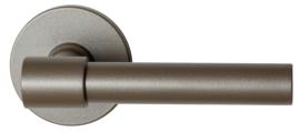 Hipi Deux+ Mocca blend deurkruk op ronde rozet