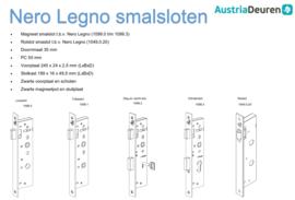 Nero Legno Magneet smalslot - toiletslot -stalen kozijn
