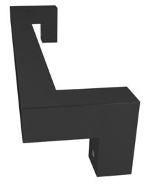 Deurgreep Tupelo 30 cm (Mat zwart) p/stuk